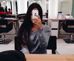 girl, apple, and fashion image