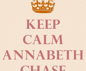 keep calm, percy jackson, and annabeth chase image