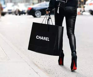 black, chanel, and louboutin image