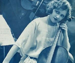 1920s, blue, and cello image