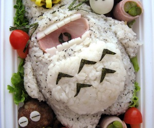 totoro, food, and bento image
