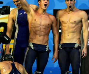 ryan lochte and Michael Phelps image