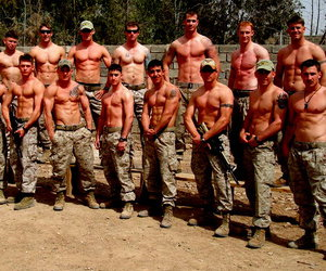 Hot, abs, and army image