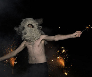 boy and sparklers image
