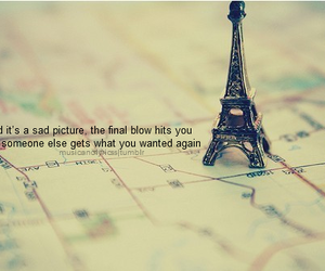 eiffel tower, letters, and quote image