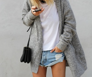 denim shorts, street style, and outfit image