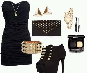 dress, moda, and negro image