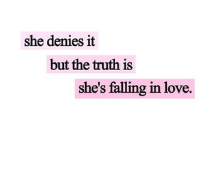 love, quote, and falling image