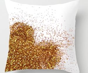 glitter, heart, and pillow image