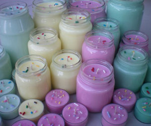 candle, pastel, and girl image