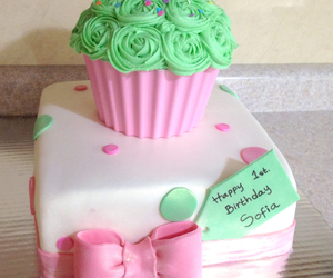baby, birthday, and pink image