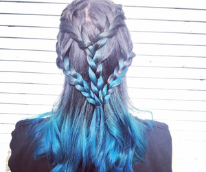 braid and blue hair image