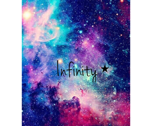 colorful, galaxy, and infinity image