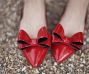 shoes, bow, and red image