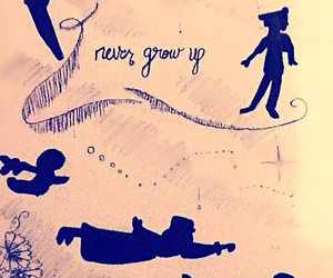 magic, never grow up, and peter pan image