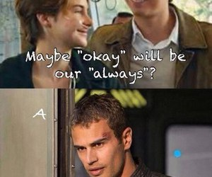 divergent, augustus, and the fault in our stars image