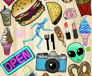 wallpaper, cute, and food image