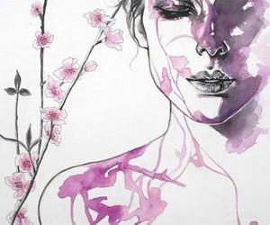 desenho, flor, and flower image