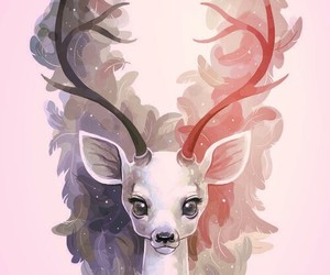 deer, art, and animal image