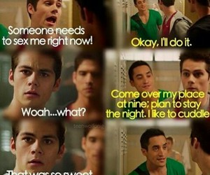 funny, teen wolf, and stiles image