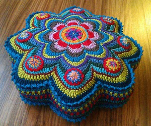 crochet, stool, and hocker image