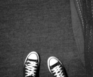 all star, black and white, and Darkness image