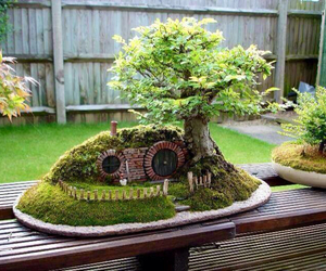 hobbit, bonsai, and tree image