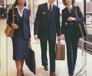 80s, stewardess, and vintage image