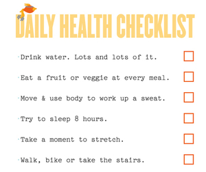 checklist, daily, and exercise image