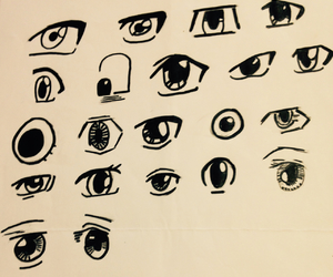 disegni, drawing, and eyes image