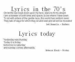 Lyrics, 70s, and true image