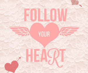 follow your heart, heart, and lace image