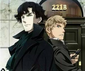 anime, sherlock, and john image