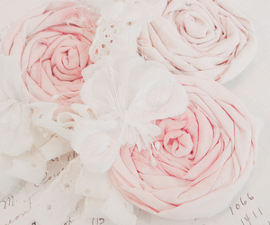 floral, lace, and pink image