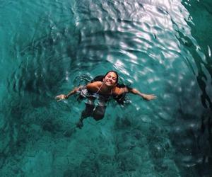 bikini, ocean, and blue image