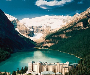 canada, lake louise, and mountains image