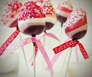 strawberry, cake pops, and chocolate image