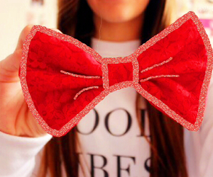 bow, glitter, and tumblrgirl image