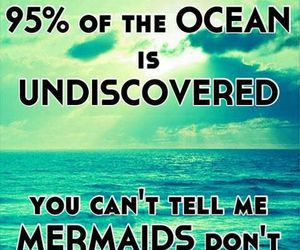mermaid, ocean, and quotes image