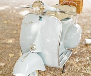 vintage, Vespa, and blue image