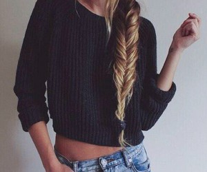black, clothes, and fishtail image