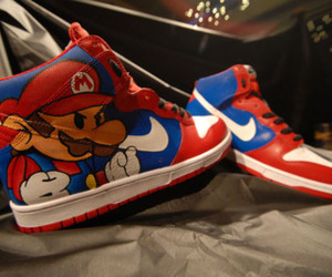 mario, nike, and shoes image