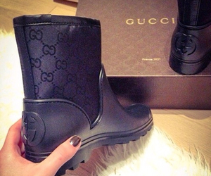 gucci, boots, and black image