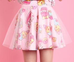 pink, skirt, and cute image