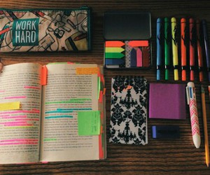 school, study, and book image