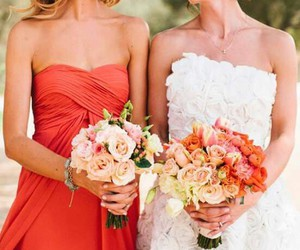 dress, flowers, and friends image