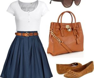 outfit, dress, and skirt image