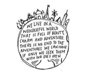 world, quotes, and adventure image