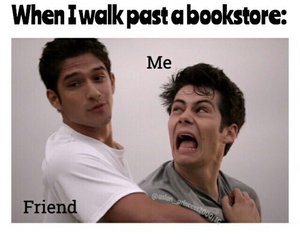 book, funny, and bookstore image