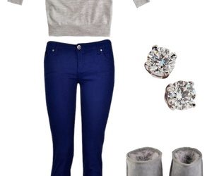 outfit, heart, and uggs image